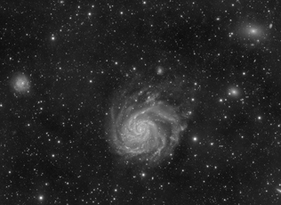 Messier 101 luminance